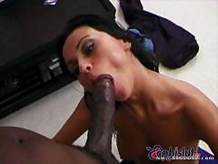 Little Nikita Denise takes a foot long cock in her mouth and ass