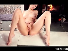 Tempting Young Sex Siren Rubbing And Finger Teasing Her Cunt