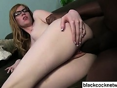 Hot chick fucked by Mandingo monster cock