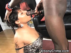 short-haired-black-girl-face-fucked-roughly-on-floor