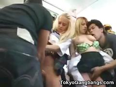White Teens Undressed in Japan!