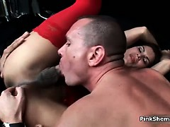 Horny Blonde Is Seduced By Two Horny Part6