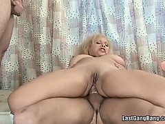 Mature Slut Taking Three Cocks