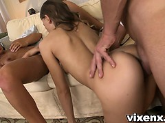 Vixenx Two Slutty Students Fuck Their Tutor