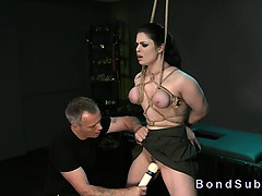 Bdsm Brunette Babe With Ass Hook Fucking