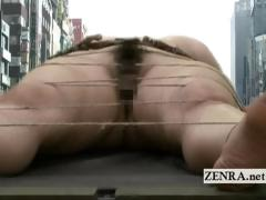 Weird unusual Giant undressed Japanese Woman Toy Insertion
