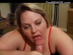 Horny Teen BBW Ex Girlfriend blowjob and swallowing cum