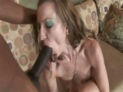Brunette milf having interracial sex