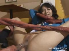 Asian Maiden Twat Nailed By Tentacles