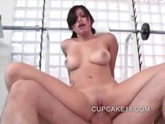 Latina Beauty Riding On A Big Cock That Slams Her Wet Pussy Deep