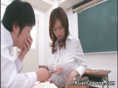 Sexy and horny asian teacher shows her part3
