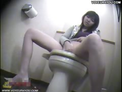 Toilet Masturbation Hot Japanese Office Girl
