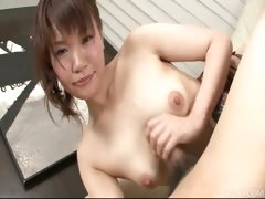 Lovely Japanese Honey Kana Mimura Gives Her Man A Jerk Job