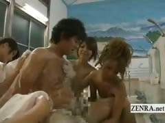 Subtitle Japanese bathhouse rental service harem course