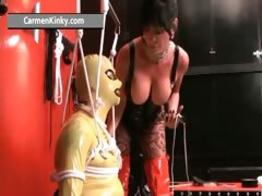 Kinky Carmen enjoys having fun in latex part4