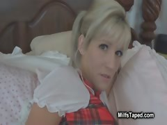 milf-in-uniform-teasing-pussy