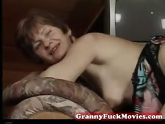 Real grandma fucked in every way